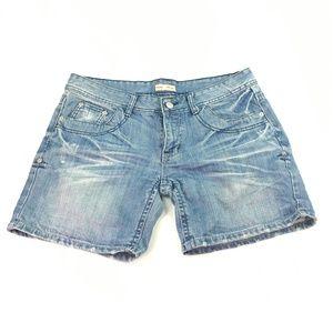 Haas Women's Light Wash Denim Shorts Sz L K478 for sale